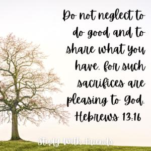 Hebrews 13:16